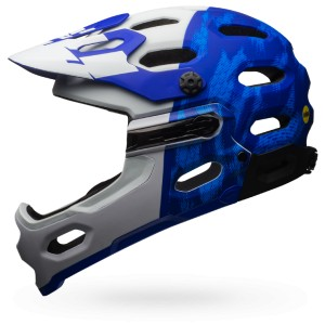 BELL SUPER 3R MIPS M 55-59 MAT FORCE BLUE/WHITE 2017