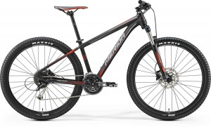 "MERIDA BIG SEVEN 100 20"" MATT BLACK -SIGNAL RED/GREY 2017"