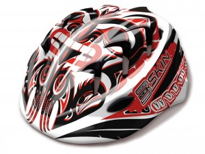 KASK B-SKIN KIDY PRO RED/WHT XS (44-48cm) HM-BS173