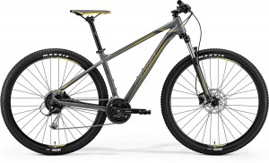 "MERIDA BIG.NINE 100-D L 19"" MATT GREY (YELLOW/DARK GREY)2018"