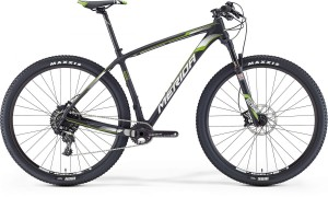 "MERIDA BIG.NINE 6000 21"" MATT UD CARBON(GREEN/WHITE) 2016"