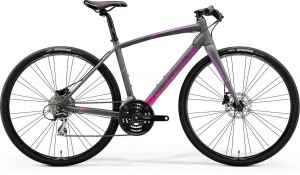 SPEEDER 100-JULIET XS(47) MATT GREY(PINK/PURPLE)