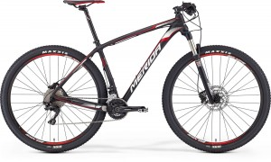 "MERIDA BIG.NINE 1000 21"" MATT UD CARBON(RED/WHITE) 2016"