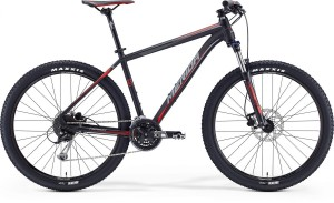 "MERIDA BIG SEVEN 100 20"" MATT BLACK (SIGNAL RED/GREY)2017"
