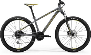 "MERIDA BIG SEVEN 100-D 15"" S MATT GREY (YELLOW/DARK GREY)2018"